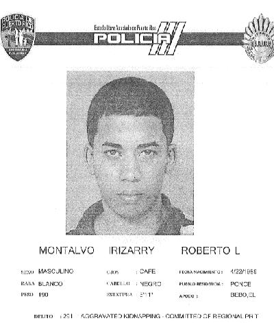 Ficha Roberto Luis Montalvo Irizarry