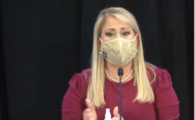 Wanda Vazquez - gobernadora - conferencia de prensa - captura de pantalla - julio 16 2020