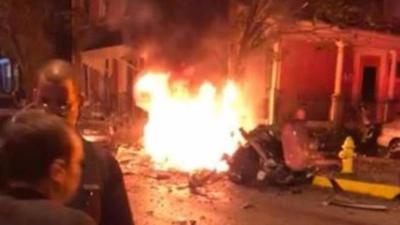 VIDEO: Mueren tres personas tras explotar carro en Pennsylvania