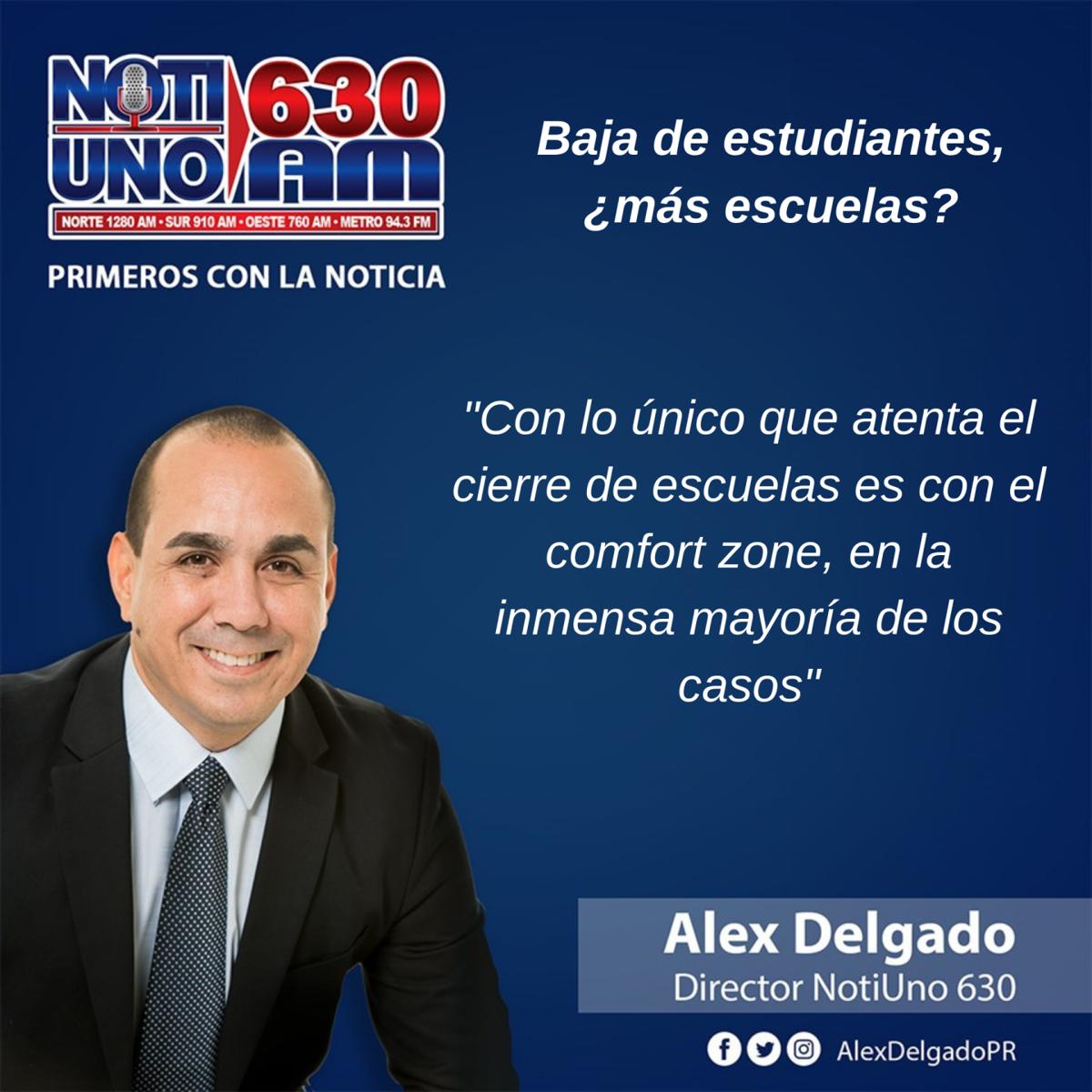 Alex Delgado - columna - menos estudiantes mas escuelas - mayo 20 2019