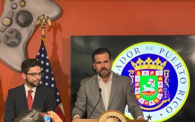 Francisco Parés y el gobernador en su designación como secretario