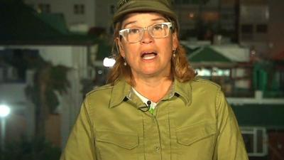 Carmen Yulin Cruz - con ropa de militar - Captura CNN - mayo 2 2019