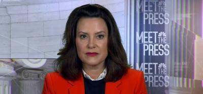 Gretchen Whitmer - gobernadora de Michigan - Captura de pantalla NBC - octubre 8 2020
