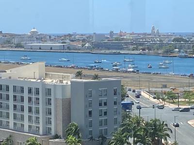 Avioneta se estrella en la Bahia de San Juan - Foto Twitter maymopr - junio 2 2020