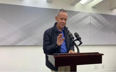 Jose Ortiz - conferencia de prensa - pide disculpas - Foto suministrada - enero 9 2020