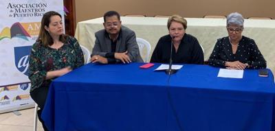 Asociacion de Maestros - Aida Diaz - conferencia de prensa - Foto suministrada - agosto 14 2019