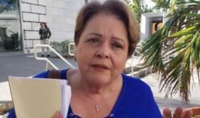 Aida Diaz - presidenta Asociacion de Maestros - Foto captura de pantalla - junio 3 2019