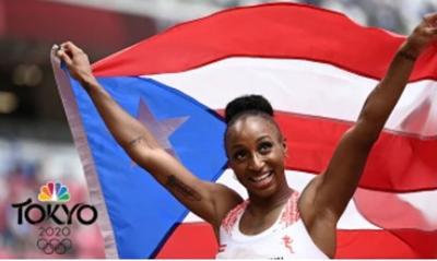 Jasmine Camacho Quinn - atleta - atletismo - representa a Puerto Rico en Tokio 2020 - Foto NBC Sports