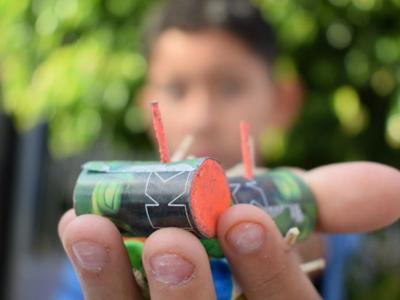 El uso de pirotecnia cerca de tanques de gas los convierte en 'bombas' potenciales.