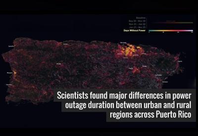NASA - investigacion - apagon - Puerto Rico - huracan Maria - diciembre 12 2018