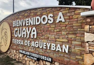 Guayanilla - portico de bienvenida - vandalizado - Foto suministrada - mayo 16 2019