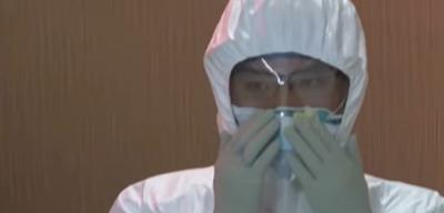 China - Coronavirus - enfermero - Captura de pantalla - enero 27 2020