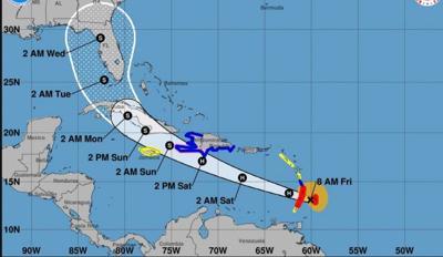 Tormenta Elsa ya es huracan - trayectoria - julio 2 2021