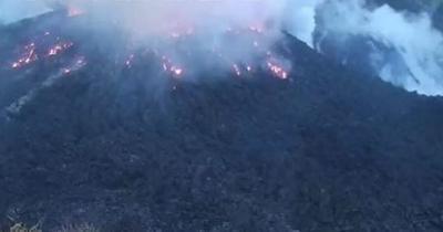 Volcan - erupcion - St Vincent - Captura de pantalla - abril 9 2021