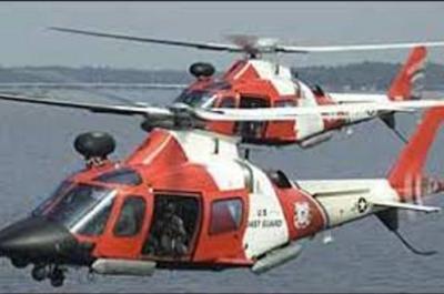 Helicópteros de la Guardia Costera de Estados Unidos.