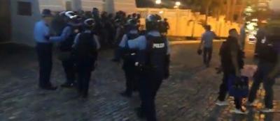 San Juan - manifestacion - Captura de pantalla - julio 16 2019
