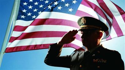 Veterano - bandera - USA - marzo 12 2019