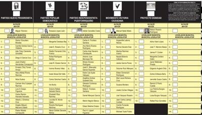 Papeleta - elecciones 2020 - octubre 26 2020