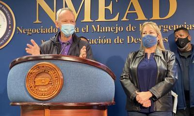 Jose Ortiz - Wanda Vazquez - conferencia de prensa - Foto via Cybernews - julio 30 2020