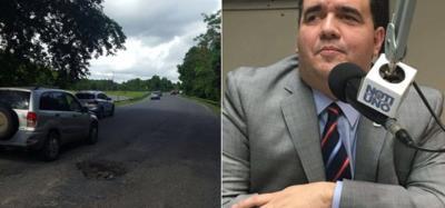"""Secretario DTOP asegura la gente """"lo felicita"""" por arreglar carreteras"""