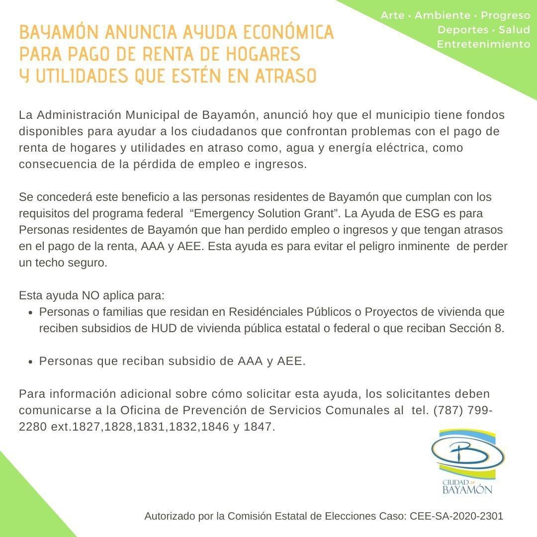 Bayamon - Municipio - problemas con las lineas de telefono ante alto volumen de llamadas - septiembre 17 2020