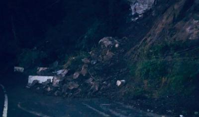 Coamo - deslizamiento de tierra - carretera - Fotovia MotinSiTePegas - octubre 21 2020