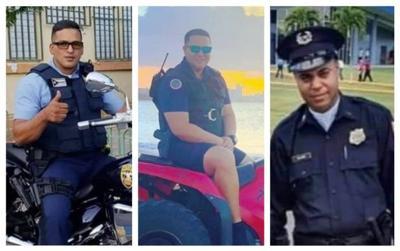 Policias caidos en el cumplimiento del deber en Carolina - montaje - enero 12 2021