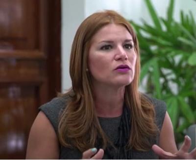Noelia Garcia - secretaria de la gobernacion - Foto Captura de pantalla - marzo 1 2021