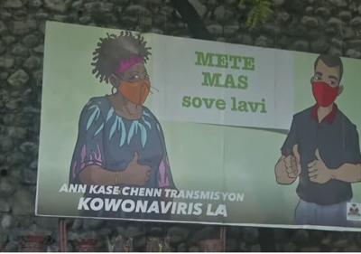 Haiti - cartel - coronavirus - Captura de pantalla - abril 7 2021