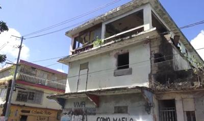 Edificio abandonado - San Juan - captura de pantalla - febrero 25 2020