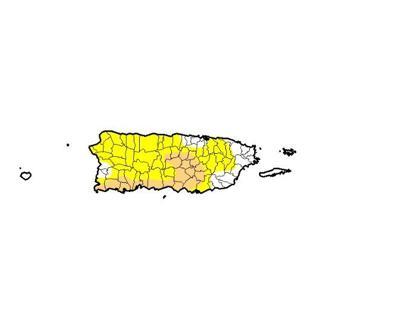 Sequia - mapa - Puerto Rico - febrero 21 2019