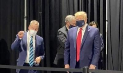 Trump - presidente - mascarilla - Captura de pantalla NBC news - mayo 22 2020