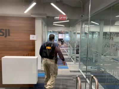FBI - allanamiento - banco - San Juan - febrero 6 2019