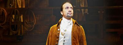 Lin Manuel Miranda como Hamilton.