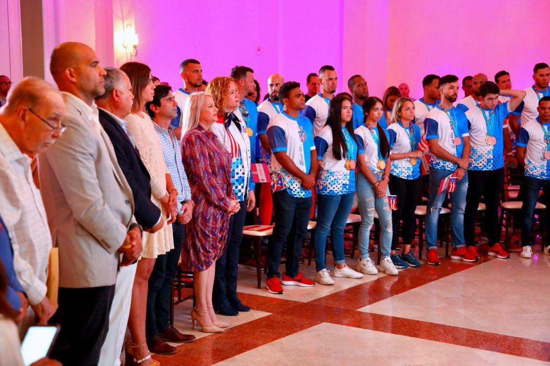 Gobernadoras y delegacion PUR Panamericanos Lima 14-8-19