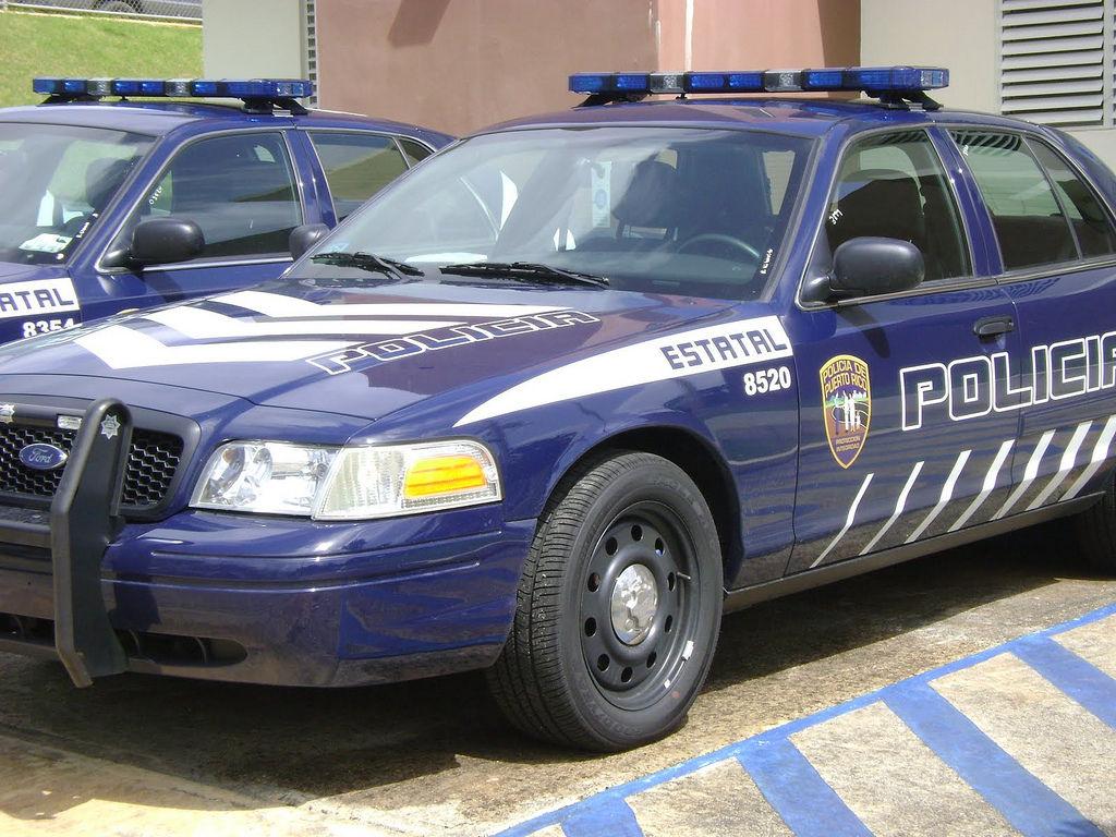 Policia patrulla azul
