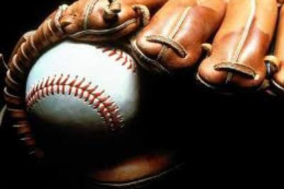 Béisbol guante y pelota