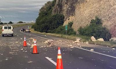 Ponce - derrumbe - carretera hacia Peñuelas - Foto via La Perla del Sur - enero 9 2020