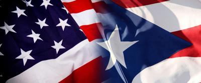 Banderas Estados Unidos y Puerto Rico - febrero 11 2020