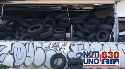 Tras denuncia de NotiUno 630, Recursos Naturales se lleva cientos de gomas de vertedero clandestino
