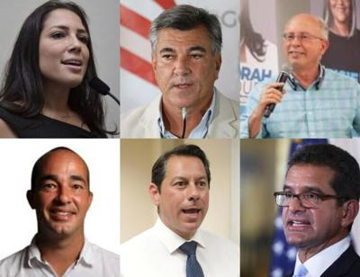 Candidatos a la gobernacion para las elecciones del 2020 - montaje de El Vocero - septiembre 1 2020