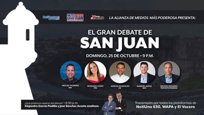 San Juan - candidatos - debate - octubre 22 2020