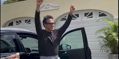 Rene Gonzalez - cantautor cristiano - sale del hospital - Foto via Facebook - marzo 5 2021