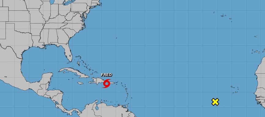Tormenta Fred - Foto via NOAA - agosto 11 2021