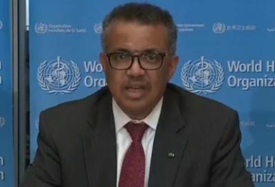 Tedros Adhanon - director de la Organizacion Mundial de la Salud - Captura de pantalla - marzo 25 2020