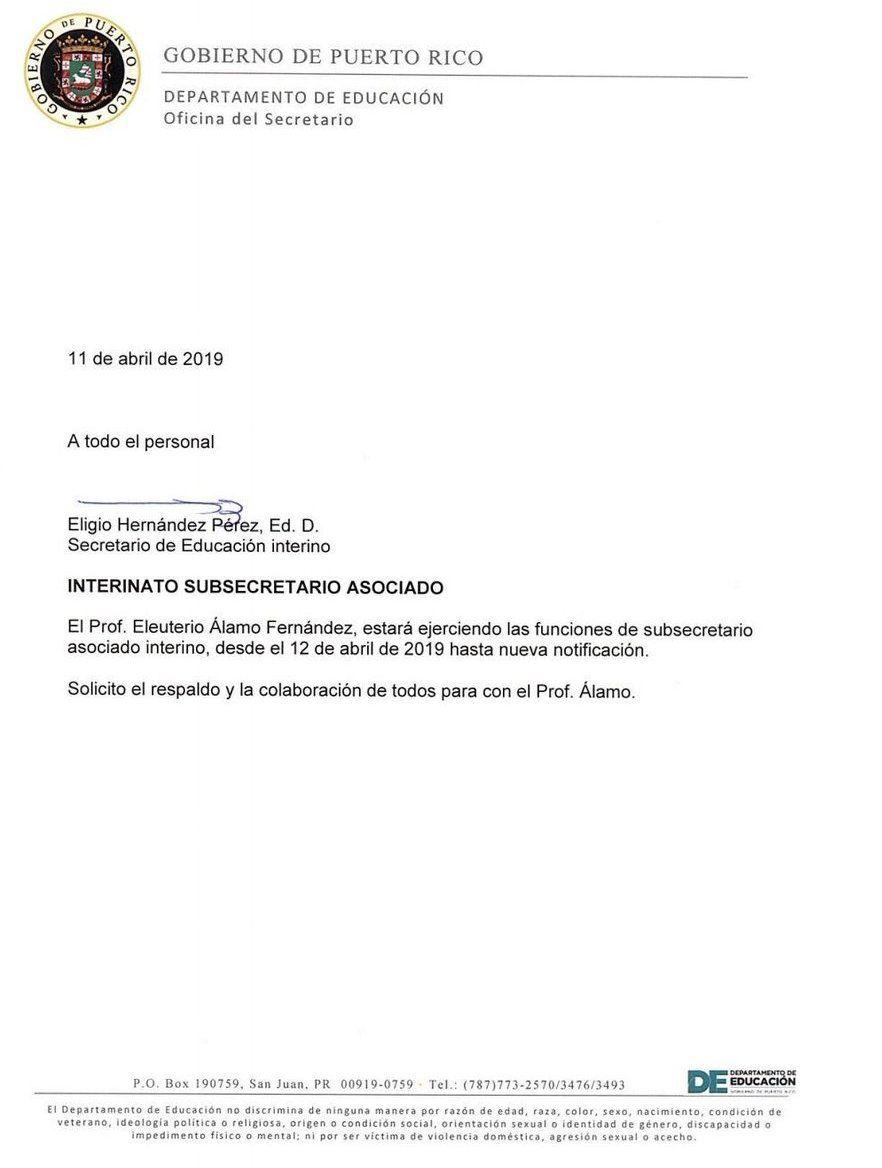 Eligio Hernandez nombra a Eleuterio Alamo como subsecretario de Educacion - abril 12 2019
