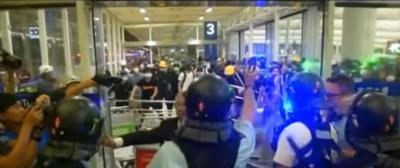 Hong Kong - Aeropuerto - manifestacion - Captura de pantalla - agosto 13 2019