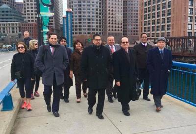 La delegación que acudió a Boston.