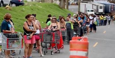 Fila - supermercado - compras - huracan - Captura de pantalla - agosto 29 2019