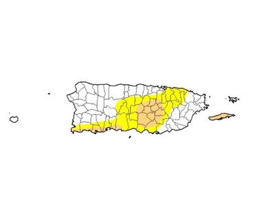 Sequia - mapa - Puerto Rico - junio 6 2019